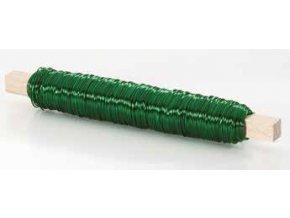 Drátek rovný 0,5mm zelená 15