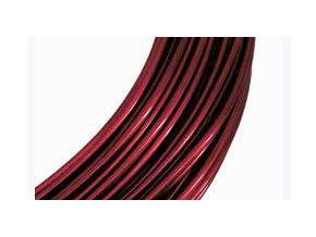 Drátek hliníkový červená tmavá 2mm