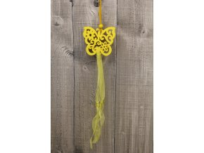 Motýl závěsný žlutý