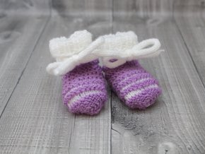 Bačkůrky mimi dvoubarevné fialové světlé