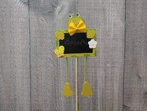 Tabulka ozdobná žába