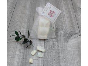 Mini mýdlo sova 3D bílá 30g