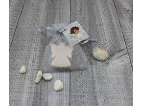 Mini mýdlo anděl plochý smetanový 20g