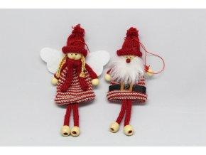 Figurky pletené vánoční