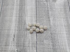 Drátkové kouličky vlnité stříbrná 05