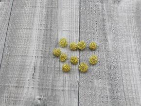 Drátkové kouličky vlnité zlatá 08
