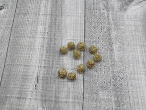 Drátkové kouličky vlnité šampaň 24