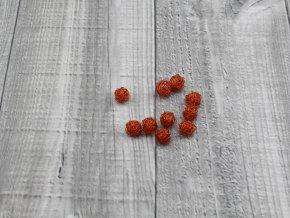 Drátkové kouličky vlnité oranž 09