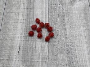 Drátkové kouličky vlnité červená 01