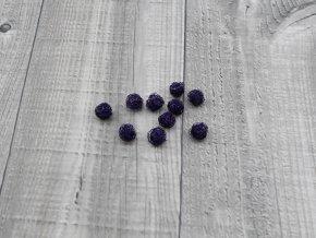 Drátkové kouličky vlnité lila 04