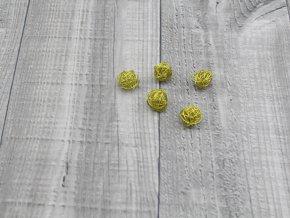 Drátkové kouličky hladké zlatá 08