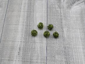 Drátkové kouličky hladké oliva 16