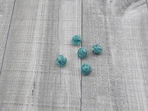 Drátkové kouličky hladké ledově modrá 25