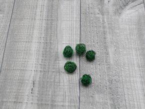 Drátkové kouličky hladké zelená 15