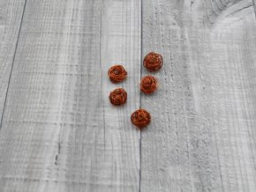Drátkové kouličky hladké hnědá 09