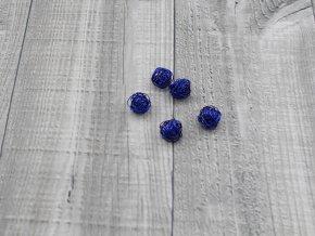 Drátkové kouličky hladké modrá 11