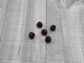Drátkové kouličky hladké fialová 04