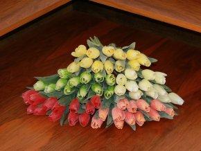 Tulipán umělý zelený
