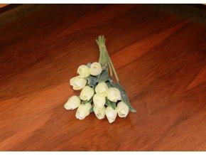 Tulipán umělý smetanový