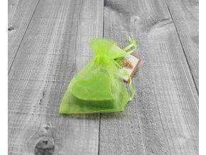Mini mýdlo srdce ploché zelené 20g