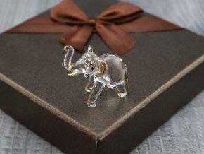 Miniatura skleněný slon