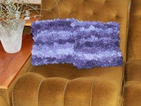 Polštářky pletené,lilkově fialové sada 2 kusy