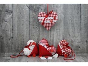 Srdce závěsné červené tmavé