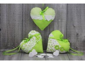Srdce závěsné zelenkavé