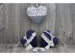 Srdce závěsné modré