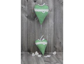 Srdce závěsné dvojité zelené