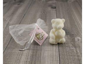 Mini mýdlo medvídek 3D bílý 30g
