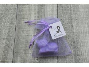 Mini mýdlo kočka 3D fialová 30g