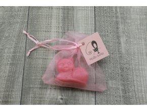 Mini mýdlo kočka 3D růžová 30g