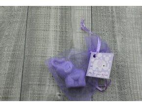 Mini mýdlo slon 3D fialový 30g