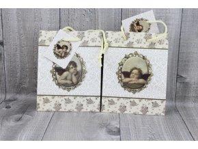 Tašky dárkové malé-anděl, sada 2 kusy