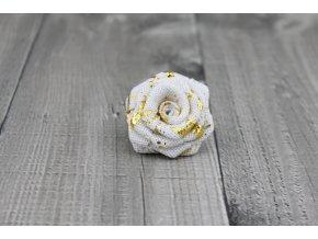 Růžička juta-bílozlatá