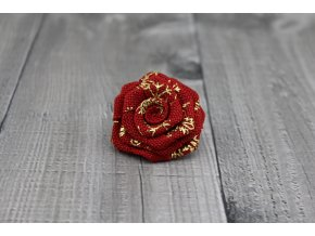 Růžička juta-červenozlatá