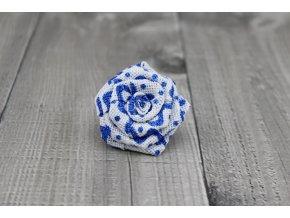Růžička juta-bílomodrá