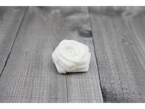 Růžička juta-bílá