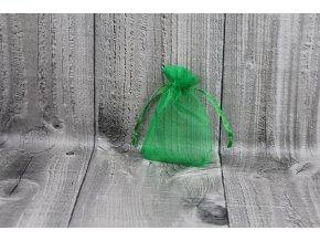 Sáček šifon-tmavě zelený