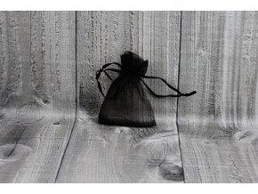 Sáček šifon-černý