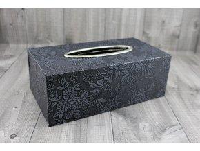 Krabice na kapesníky-tmavě šedá