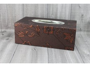 Krabice na kapesníky-hnědá, lilie
