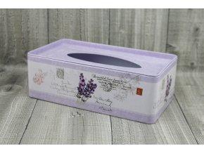 Krabice na kapesníky-fialová levandule