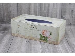 Krabice na kapesníky-LOVE
