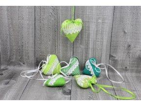 Srdíčko mini závěsné-zelené
