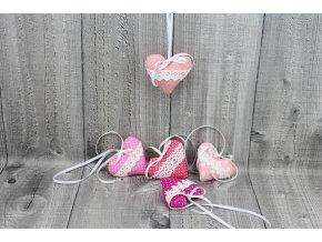 Srdíčko mini závěsné-růžové