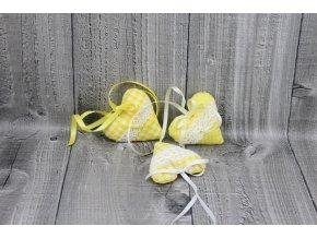 Srdíčko mini závěsné-žluté