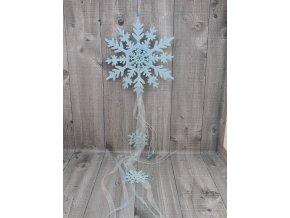 Sněhová vločka závěsná modrá