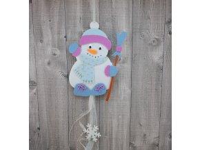 Sněhulák v kulichu modrý
